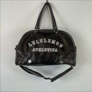 Lululemon large Retro style faux leather bag